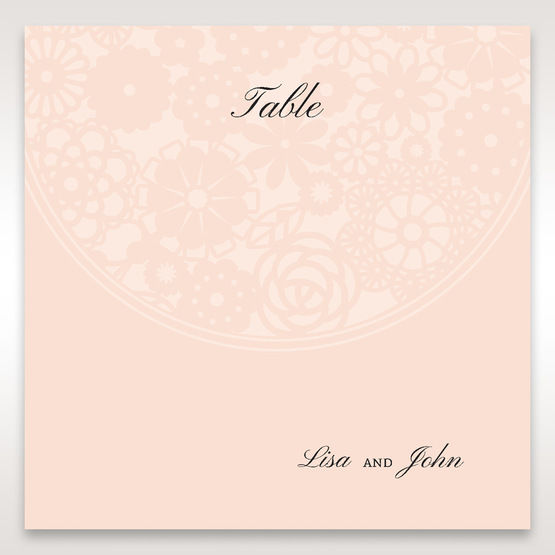 Orange Pink Light Romance - Table Number Cards - Wedding Stationery - 48