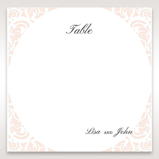White Edge of Heaven - Table Number Cards - Wedding Stationery - 52