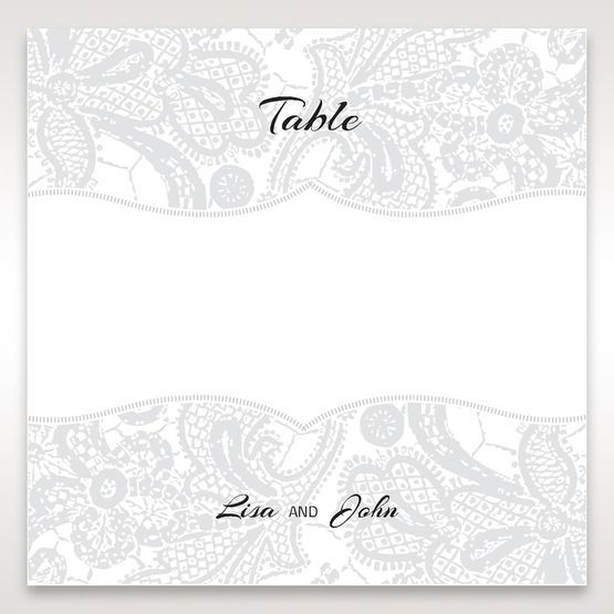 White White Dress - Table Number Cards - Wedding Stationery - 0