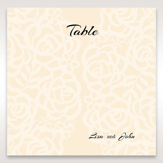 Yellow/Gold Laser Victorian Lace Laser Cut Wrap - Table Number Cards - Wedding Stationery - 6