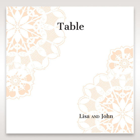Orange Laser Cut Floral Frame - Table Number Cards - Wedding Stationery - 82