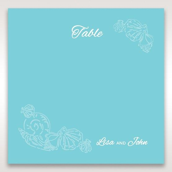 Green Ocean Frame I Laser Cut - Table Number Cards - Wedding Stationery - 1