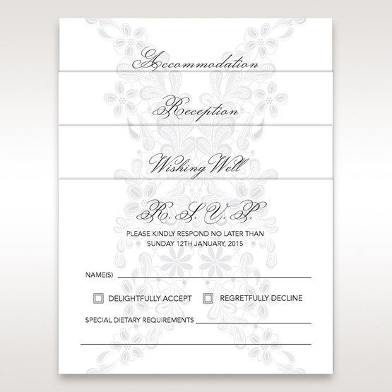 Floral patterned matching stationery in vellum pock