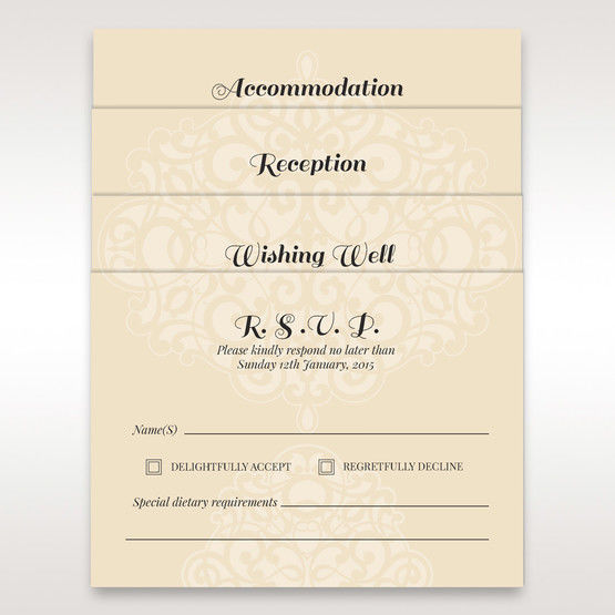 Jeweled lasercut invitation matching stationery in vellum pocket