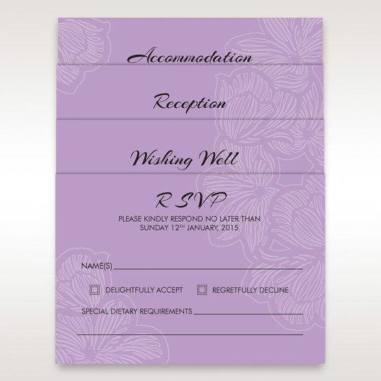 Purple Laser Cut Flower Frame III - Wishing Well / Gift Registry - Wedding Stationery - 65