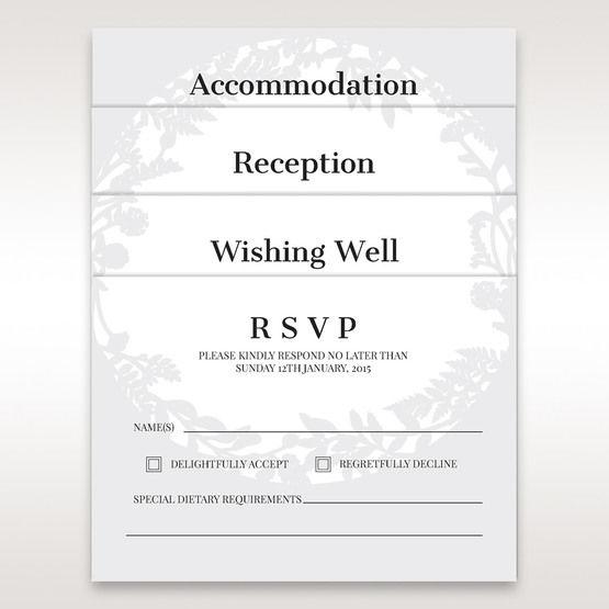 White Enchanted Forest I Laser Cut P - Wedding invitation - 56