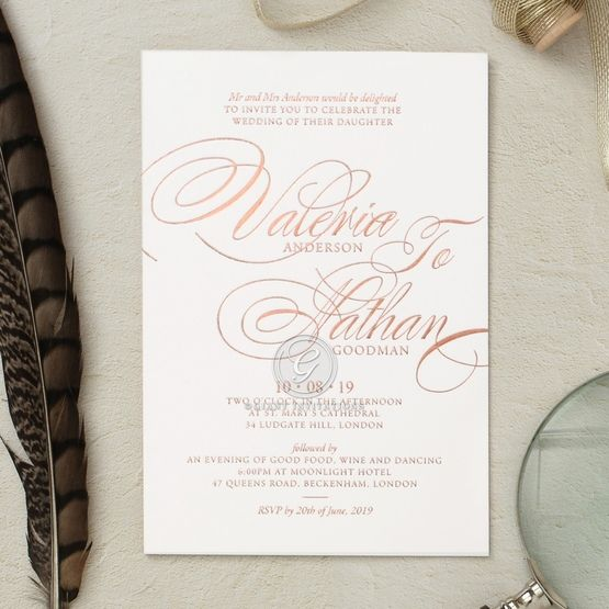 Timeless Romance wedding invitations FWI116101-GW-RG
