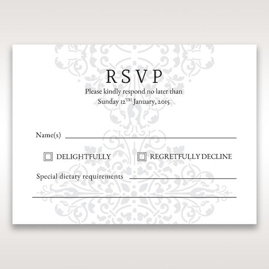 Black A Night at the Opera - RSVP Cards - Wedding Stationery - 3