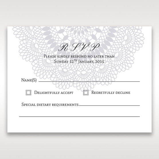 Blue Blue Elegance, Floral Couture - RSVP Cards - Wedding Stationery - 0