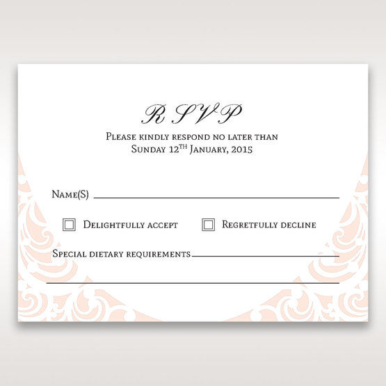 White Edge of Heaven - RSVP Cards - Wedding Stationery - 75