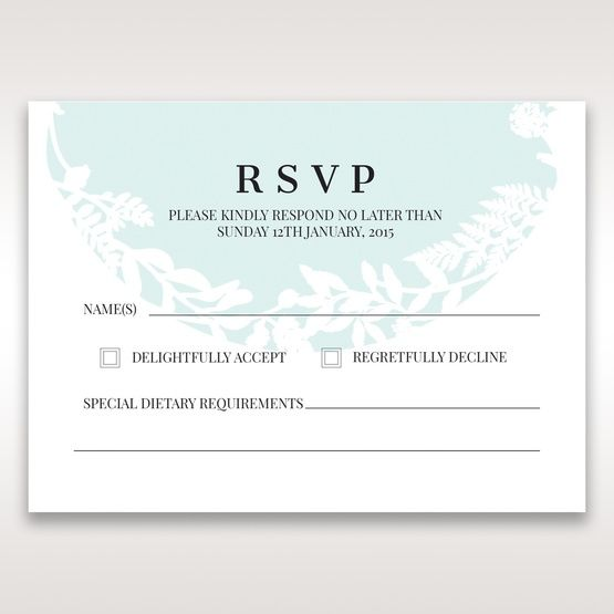 White Enchanted Forest II Laser Cut P - RSVP Cards - Wedding Stationery - 98