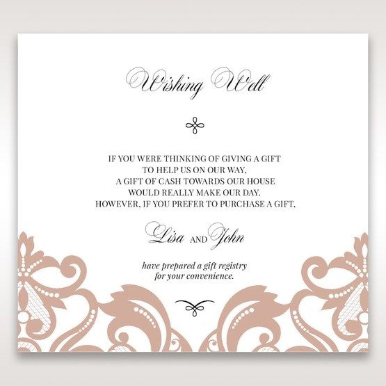 White Elegant Laser Cut Half Pocket with a Bow - Wishing Well / Gift Registry - Wedding Stationery - 51