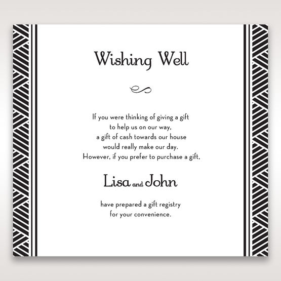 Yellow/Gold Dazzling Gold Foil Stamped - Wishing Well / Gift Registry - Wedding Stationery - 23