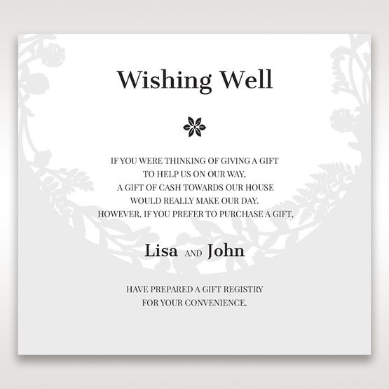 White Enchanted Forest I Laser Cut P - Wishing Well / Gift Registry - Wedding Stationery - 18