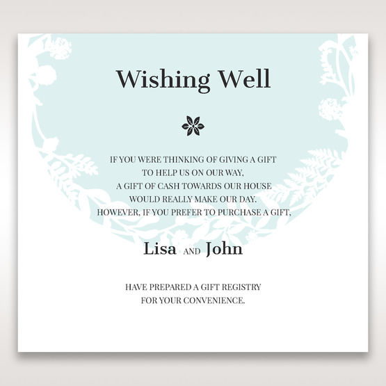 White Enchanted Forest II Laser Cut P - Wishing Well / Gift Registry - Wedding Stationery - 21