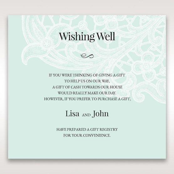 Blue Gatefold Floral Laser Cut - Wishing Well / Gift Registry - Wedding Stationery - 66