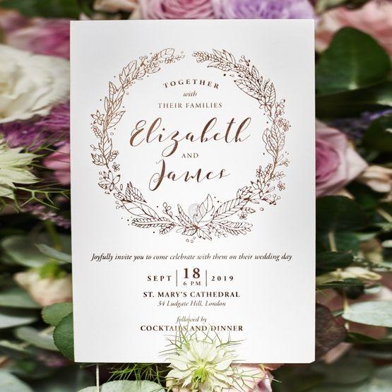 Whimsical Garland wedding invitations FWI116064-GW-RG