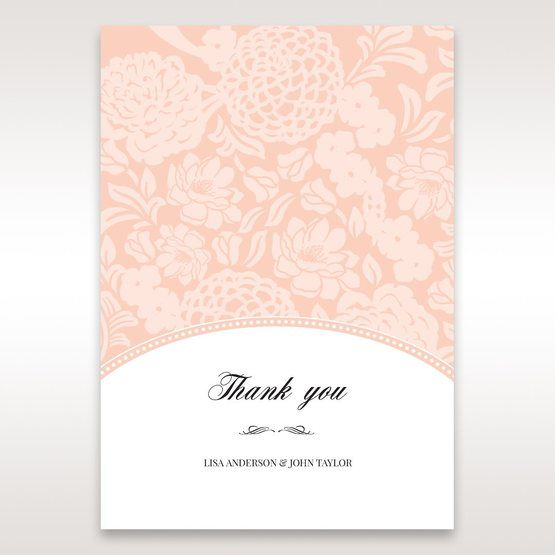 Pink Rustic Garden Laser Cut Pocket - Thank You Cards - Wedding Stationery - 78