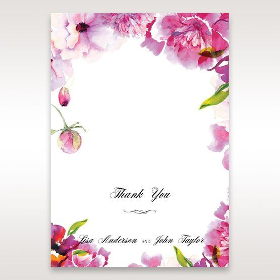 Purple Laser Cut Frame Pocket - Thank You Cards - Wedding Stationery - 82