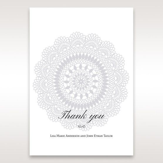 Blue Blue Elegance, Floral Couture - Thank You Cards - Wedding Stationery - 56