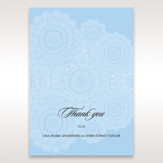 Blue Handmade Vintage Lace Floral - Thank You Cards - Wedding Stationery - 17