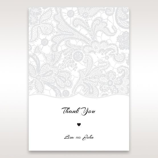 White White Dress - Thank You Cards - Wedding Stationery - 18