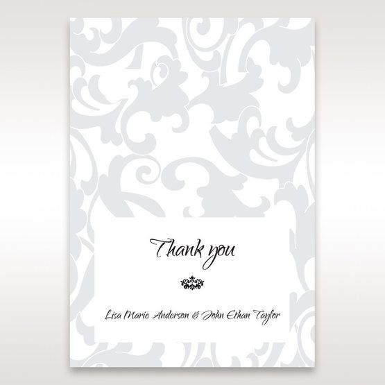 Blue Laser Scrolling Grandeur Layered Laser Cut - Thank You Cards - Wedding Stationery - 28