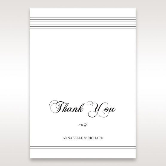 White Modern Pocket-Grey - Thank You Cards - Wedding Stationery - 24