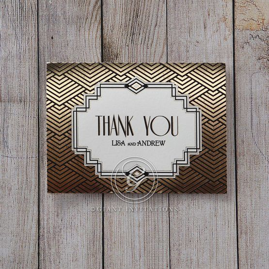 Yellow/Gold Dazzling Gold Foil Stamped - Thank You Cards - Wedding Stationery - 37