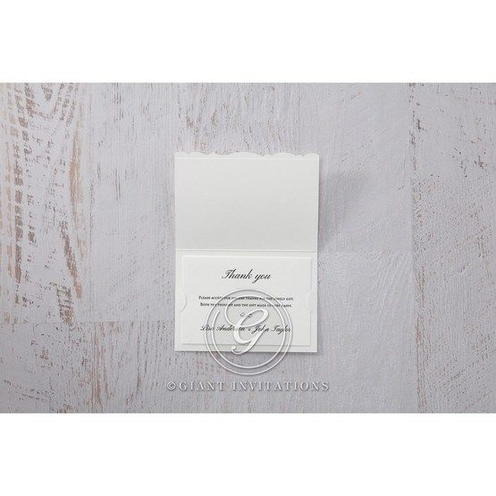 White Enchanted Folral Pocket III - Thank You Cards - Wedding Stationery - 9