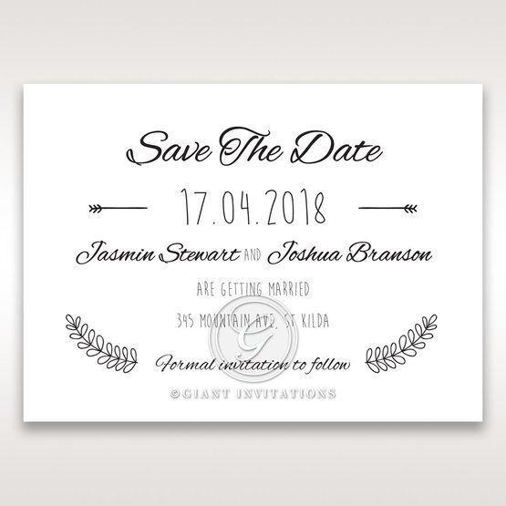 Country Lace Pocket Save the date in Ivory DS115086