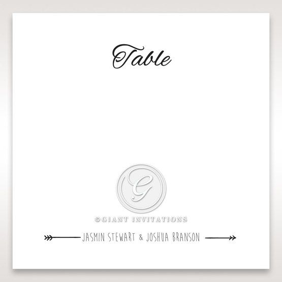 Country Lace Pocket Table card in Ivory DT115086