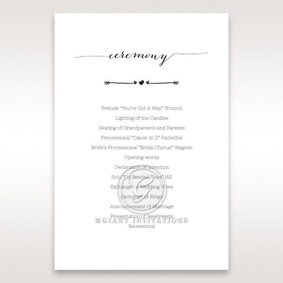 Simply Rustic Order of service in Ivory DG115085