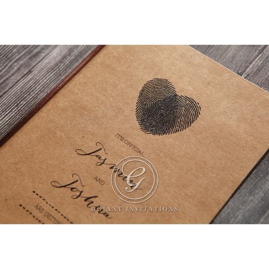 Simply Rustic Wedding invitation in Brown PWI115085 5