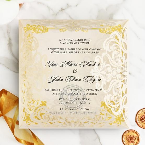 Wedding Invitations Divine Damask