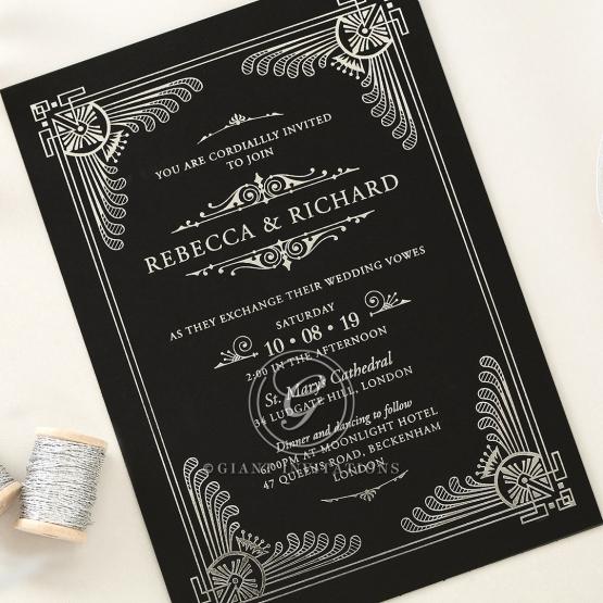 Royal Regal Elegance Wedding Card By Giant Invitations
