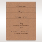 Brown Rustic Laser Cut Pocket with Classic Bow - Wedding invitation - 5