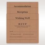 Brown Floral Laser Cut Rustic Gem - Reception Cards - Wedding Stationery - 95