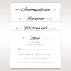 Country Lace Pocket Reception card in Ivory DC115086_1