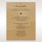 Yellow/Gold Tri-Fold Laser Cut Gold - Accommodation - Wedding Stationery - 65