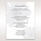 Silver/Gray Twinkling Rose - Accommodation - Wedding Stationery - 70