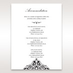 White Jeweled Romance Black Laser Cut - Accommodation - Wedding Stationery - 86
