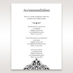 White Jeweled Romance Black Lasercut Pocket - Accommodation - Wedding Stationery - 94