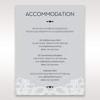 Silver/Gray Elagant Laser Cut Wrap - Accommodation - Wedding Stationery - 13