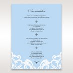 Blue Classy Laser Cut with White Bow - Accommodation - Wedding Stationery - 28