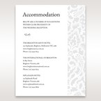 White  Elegant Laser Cut - Accommodation - Wedding Stationery - 94