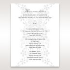 White  Laser Cut Floral Wrap - Accommodation - Wedding Stationery - 95