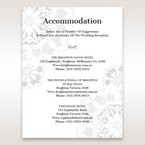White Laser Cut Floral Frame - Accommodation - Wedding Stationery - 0