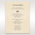 Yellow/Gold  Jeweled Laser Cut - Accommodation - Wedding Stationery - 1