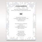 Blue  Laser Scrolling Grandeur Layered Laser Cut - Accommodation - Wedding Stationery - 29